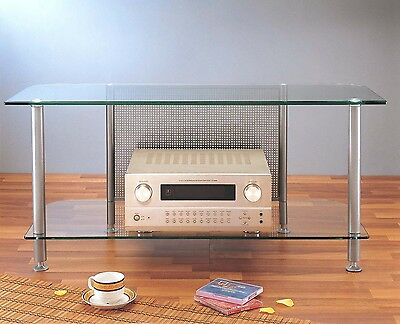 VTI Glass Audio Video TV Stand, AGR44 Black / Silver, Brand New,Free (Silver Audio Video Stand)