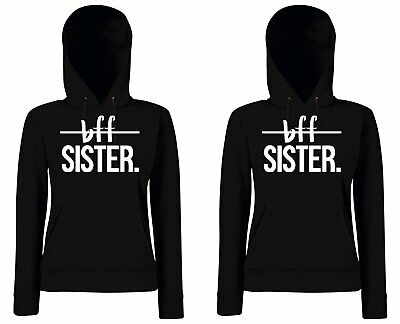 Hoodie Brownie (Damen Partner BFF Sister Best Friends Pullover Hoodie SET blondie brownie XS-XXL)