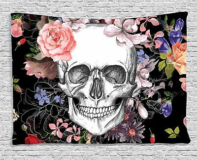 Halloween Tapestry (Skull Tapestry Print Fabric Wall Hanging Throw Blanket Bedspread Fantasy)