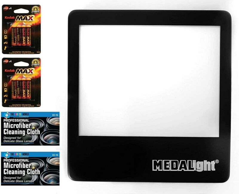 Medalight LP-100N Ultrathin LED Light Panel Slide Viewer with Batteries & Cloths