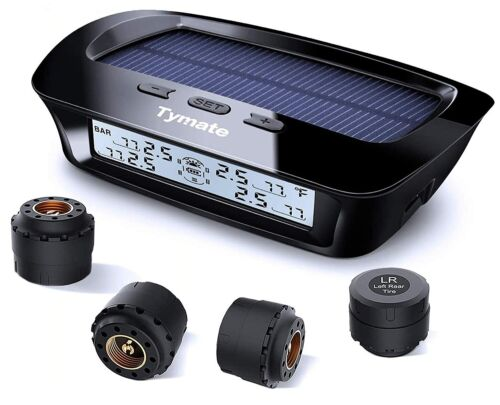BRAND NEW! Tymate M12-3 Tire Pressure Monitoring System-Solar Charge, 5 Alarm