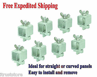 8pcs Butt Welding Clamps Auto Sheet Metal Panel Gap Joint Clamping Nut