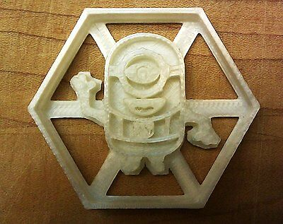 Minion Hex Cookie Cutter (Despicable Me) Choice of Sizes (3D Printed Plastic)](Minion Cookie Cutter)