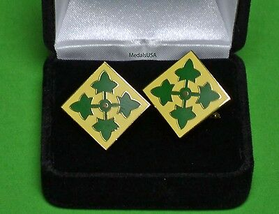 4th Infantry Division Army Cuff Links - Cufflinks