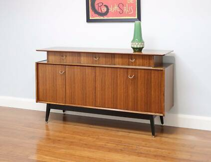 Retro Teak E Gomme G-Plan Sideboard / Buffet – Splayed Legs