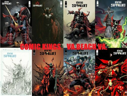 KING SPAWN #1   8 COVER VARIANT SET  A-H  1:50 SKETCH  FREE SHIP    COMIC KINGS