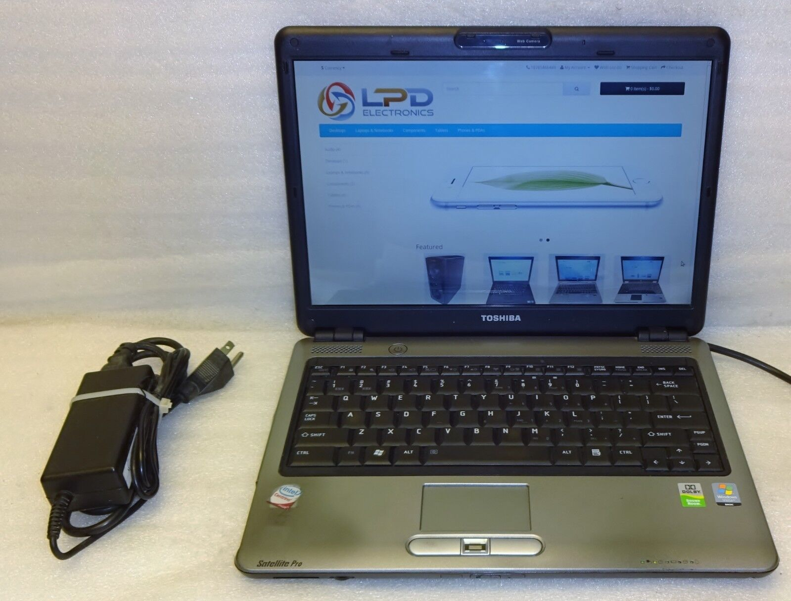"Toshiba Satellite Pro U400 Laptop Notebook 13"" 2.1GHz Core 2 160GB Webcam Linux"