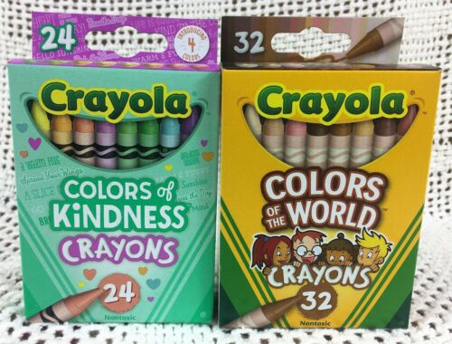 Crayola Crayons Colors of the World and Colors of Kindness Set of 2