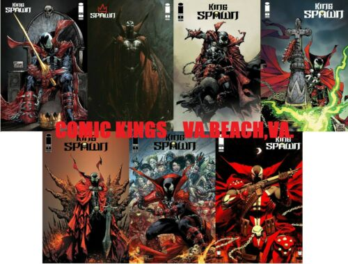KING SPAWN #1   7 COVER VARIANT SET  A-G  FREE SHIP    COMIC KINGS