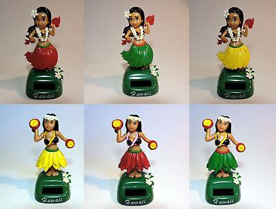 SOLAR Hawaii Wackelfigur Hula Girl Auto Wackeldackel Dashboard Doll, 11.5cm, NEU ()