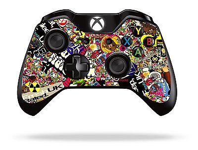 Sticker Bomb Xbox One Remote Controller/Gamepad Skin / Cover / Vinyl Wrap xb1r3