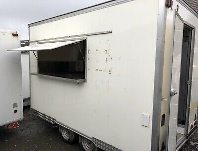 LARGE BURGER VAN Mobile Kitchen Catering Trailer Street Food Festival Catering