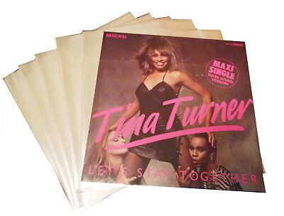 """100 Stück Schutzhüllen LP- 12"""" Schallplatten,325x325 mm,glasklar PP-Folie"""