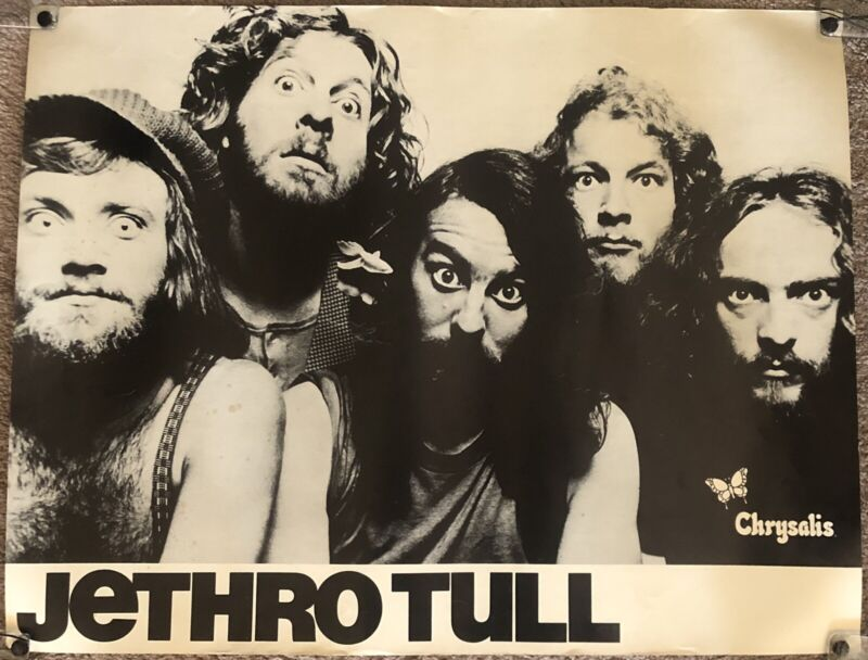 Jethro Tull 1972 Living In The Past Album Record Store Promo Poster