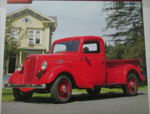 1935 Ford Pickup truck print  (red)