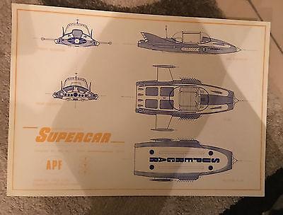 Supercar A3 Blueprint Gerry Anderson