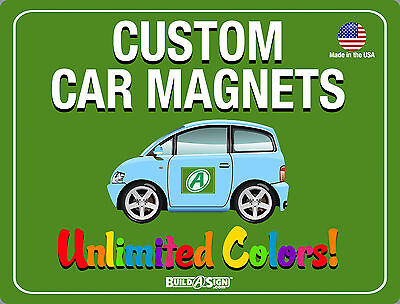 2- 12x12 Custom Car Magnets Magnetic Auto Truck Signs