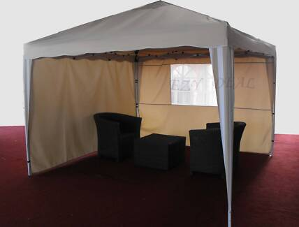 3m Pop up Gazebo Folding Tent Market Marquee Party Canopy * Beige Thomastown Whittlesea Area Preview