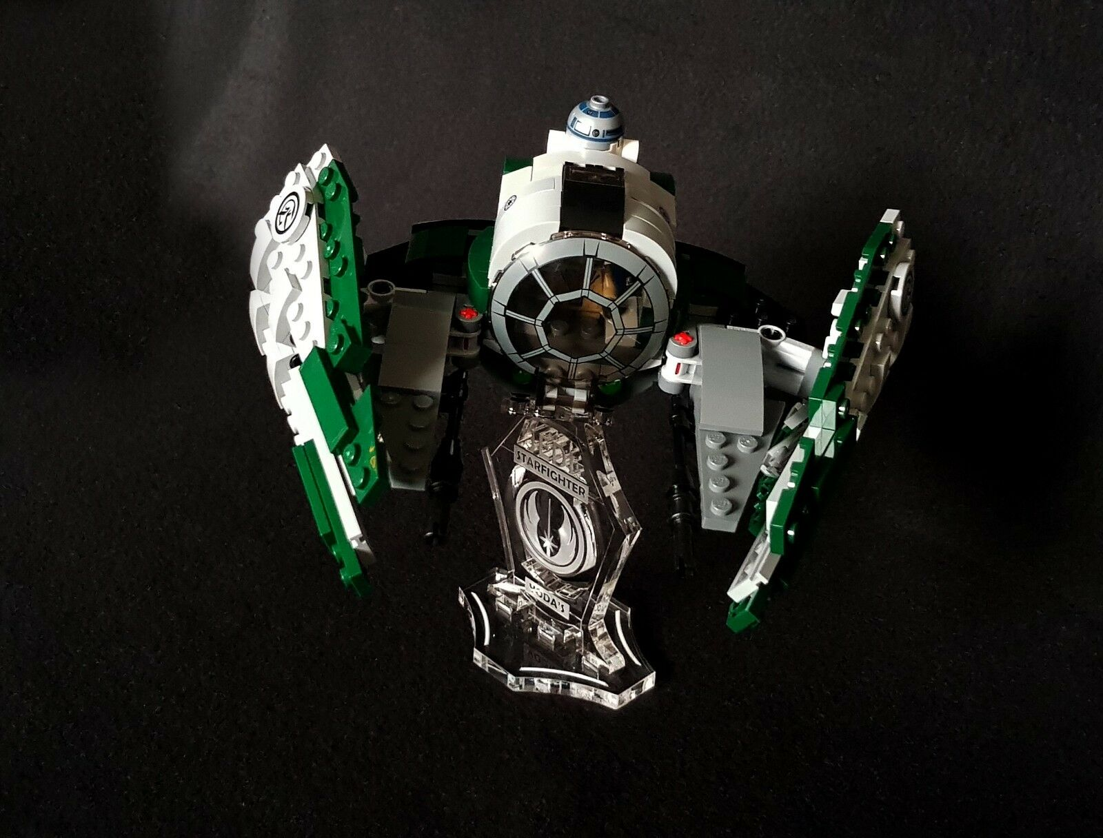 slots for Lego 75179 Kylo Ren/'s Tie Fighter Star Wars Display stand 3D angled
