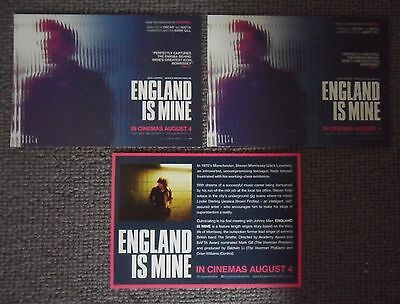 MORRISSEY / THE SMITHS - England Is Mine 3 x ORIGINAL PROMOTIONAL CARDS / FLYERS