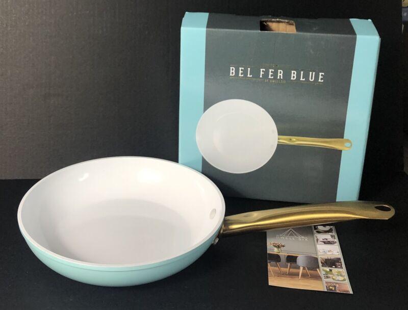 "DwellSix Bel Fer Blue, 9.5"" Frying Pan, Limited Edition, Turquoise (NIB)"