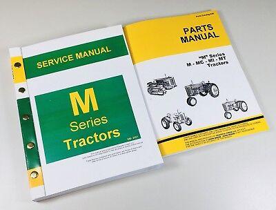 Service Manual Set For John Deere M Mi Mt Tractor Service Parts Catalog Shop