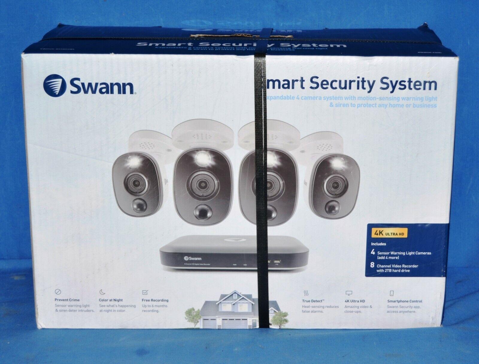Swann SWDVK-855804WL 4 Camera 8 Channel 4K Ultra HD DVR Secu