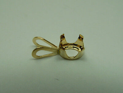 SOLID 14k GOLD OVAL Pendant mount setting snap tite set 5x3 or 10x8 OV parts