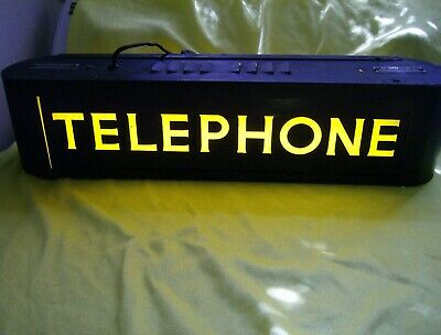 1940s Vintage Bell System Western Electric Lighted Telephone Sign KS-14154 WORKS