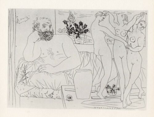 Pablo Picasso, Sculptor with a Sculpted Group, Vollard Suite