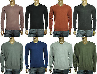 New Mens Cashmere Sweater - NEW THE MENS STORE BLOOMINGDALES V NECK 100% 2-PLY CASHMERE PULLOVER SWEATER