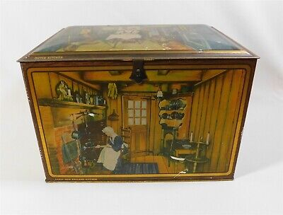 Vintage Heinz 57 Treasure Chest Metal Spice Tin with Original Liner Ad Card