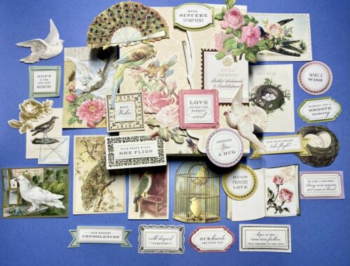 Anna Griffin Feather Sentiments & Embellishments 30 Pcs ~ Perfect for Occasions!