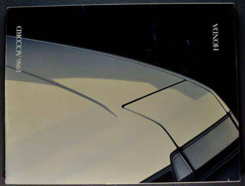1986 Honda Accord Catalog Sales Brochure DX Sedan Hatchback LXi Nice Original 86