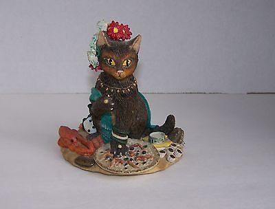 International Fat Cat Spain Gale Pitt Brown/Black Cat Flamenco Dancer Figurine