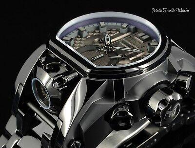 Invicta Reserve 52mm Bolt Zeus Gunmetal DIAL BLACK MAGNUM Dual Movement Watch!