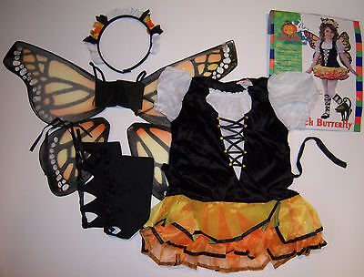 NWT Rubie's Monarch Butterfly Fairy Tutu Halloween Costume L for about - Butterfly Costume For Halloween