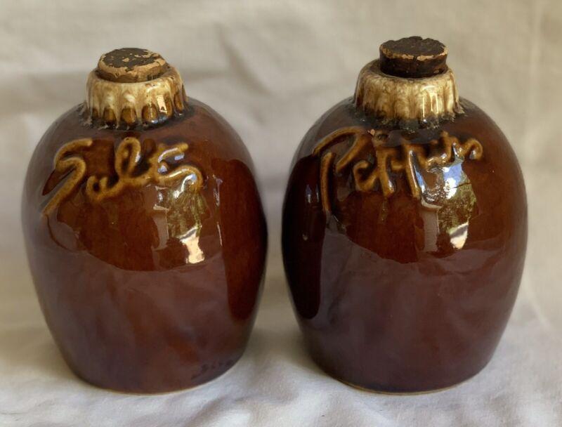 Vintage Hull Brown Salt & Pepper Shakers