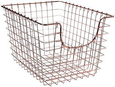 Spectrum Diversified Scoop Storage Basket, Small, Copper - Small Storage Baskets