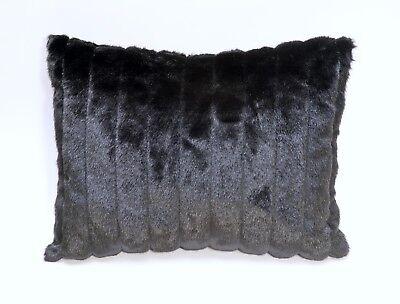 BLACK FAUX FUR MINK 24