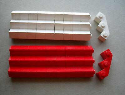 LEGO :   briques 1 x 3 : 10 rouges + 10 blanches