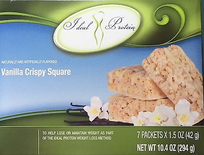Ideal Protein Vanilla Crispy Squares 15 G Protein New