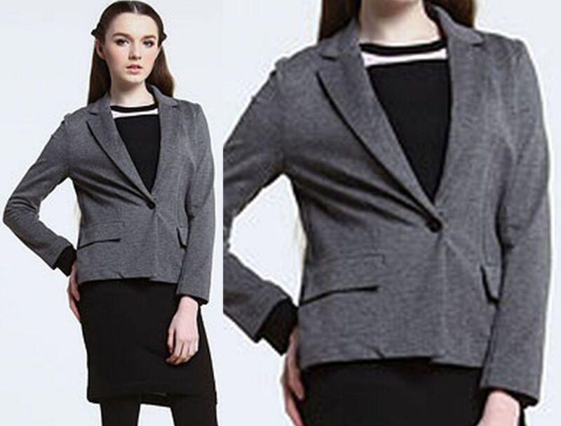 $245 Lacoste 2 34 Knitted Grey Cropped Jacket Blazer Women Coat Lady Gift New