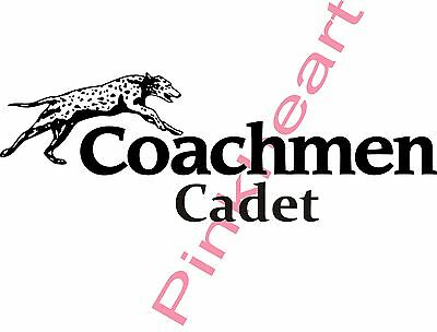 1-coachmen cadet decals made in the USA decals camper trailer rv stickers dog