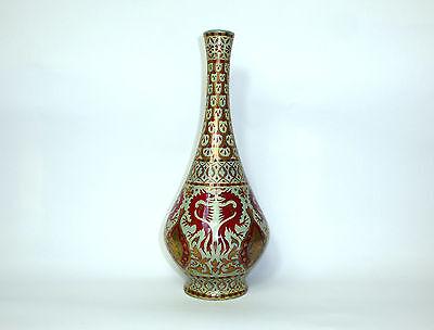 Unikative große Jugendstil Vase um 1900 Zsolnay Pécs Porzellan Ungarn