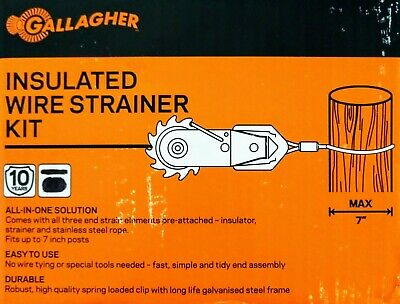 3 Gallagher Inline Strainer Insulated Termination Kits G618034 Electric Fence