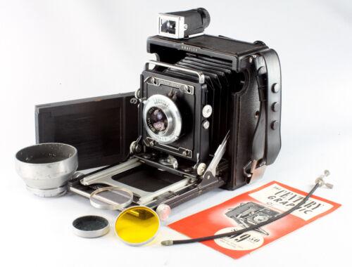 Graflex Century Graphic, 2-1/4x3-1/4, Graftar 4.5/103mm, with accessories