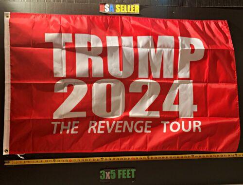 Donald Trump Flag FREE USA SHIP 2024 Revenge Tour R Trump Desantis USA Sign 3x5