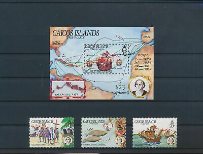 LO13132 Turks & Caicos Columbus explorer fine lot MNH