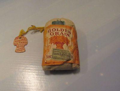 Golden Grain Tobacco Tag with original bag